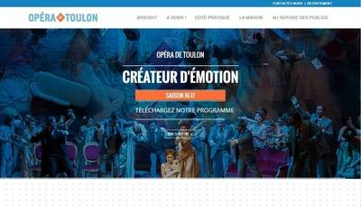 Op�ra de Toulon : Refonte du site web et referencement r�alis�s par Bexter