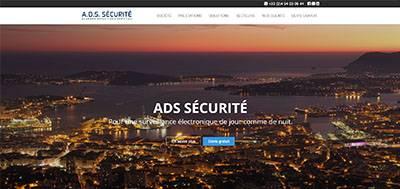 A.D.S Sécurité - Nouvelle réalisation site web Modèle Silver & référencement