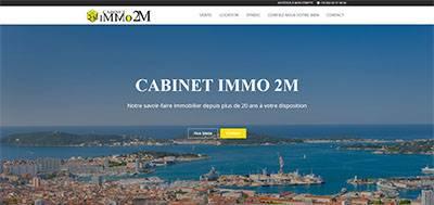 Immo 2M - Nouvelle réalisation site immobilier Modèle Silver & référencement