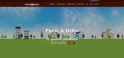Pierre & Défisc - Nouvelle réalisation site web Modèle Silver & référencement