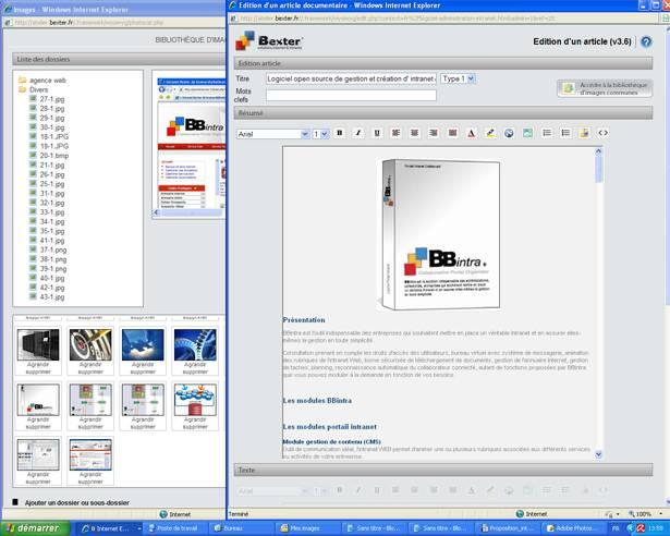 logiciel gestion intranet extranet bbintra bbextra