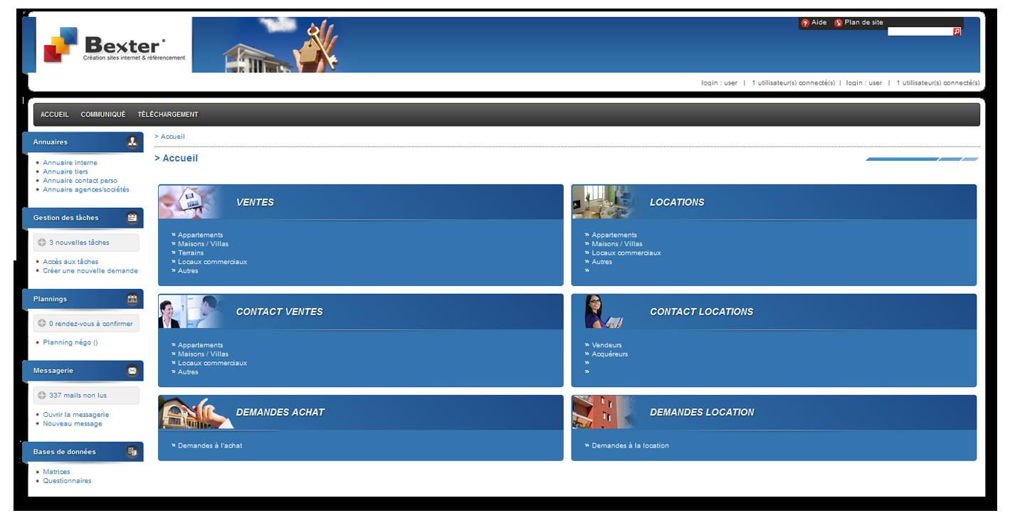 Logiciel immobilier de transaction pour agence immobiliere for Agence immobiliere site
