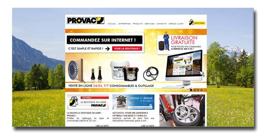 referencement et site internet PROVAC